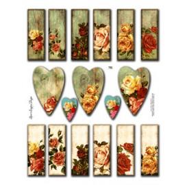 Microscope Slide Roses 751