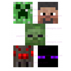 Minecraft Facemasks