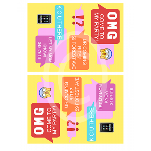 Text Message Birthday Invite For $7.00