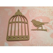 Bird and Cage Die cuts