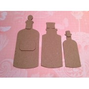 Chipboard Apothecary Bottles