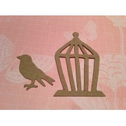 Mini Bird and a Cage Die Cut