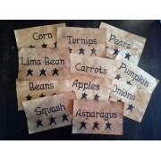 Prim Veggie Labels
