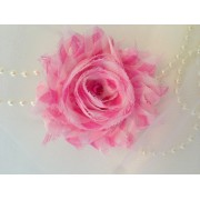 Pink & White Shabby Flower