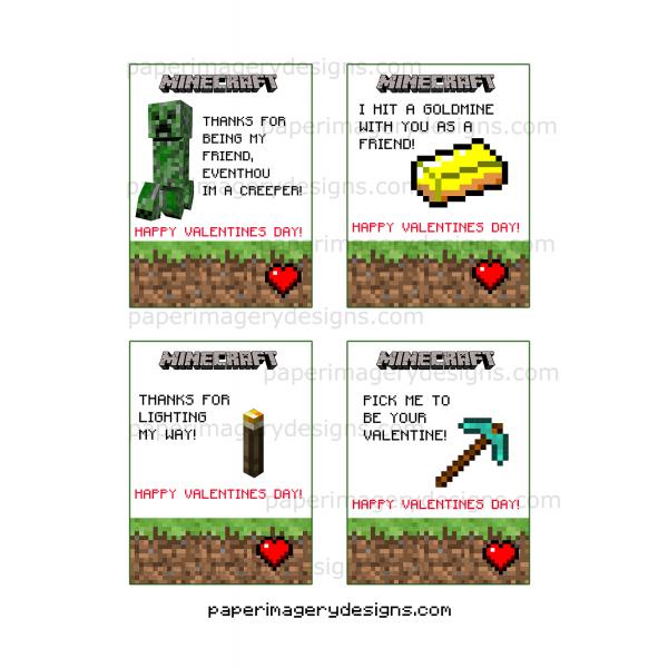 ... Minecraft Valentines Day Cards 1