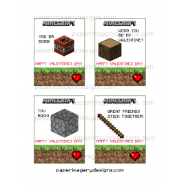 Minecraft Valentines Day Cards 2