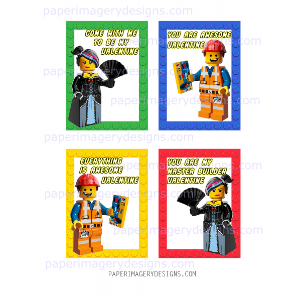 Lego Movie Valentines for $5.00   Valentines Day Cards