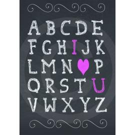 Chalkboard I <3 U Valentines Day Card