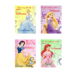 Princess Valentine Cards