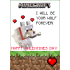 Minecraft Wolf Valentines Day Cards