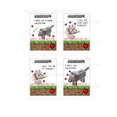 Minecraft Wolf Valentines Day Cards